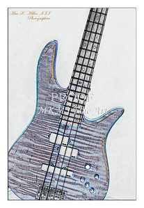 305.1954 Monarch Flame Maple 4 Bass in Watercolor