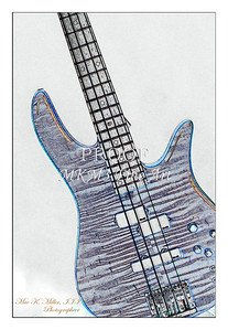 304.1954 Monarch Flame Maple 4 Bass in Watercolor