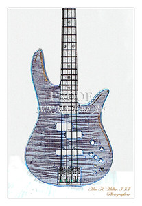 301.1954 Monarch Flame Maple 4 Bass in Watercolor