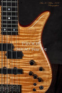 107.1954 Monarch Flame Maple 4 Bass in Color