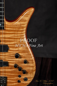 106.1954 Monarch Flame Maple 4 Bass in Color