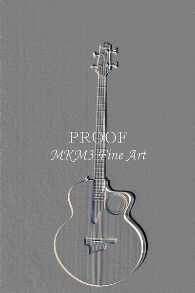 500.1835 Taylor AB1 Acoustic Electric Bass Embossed
