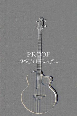 528.1835 Taylor AB1 Acoustic Electric Bass Embossed