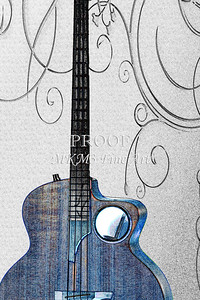 302.1835 Taylor AB1 Acoustic Electric Bass Watercolor