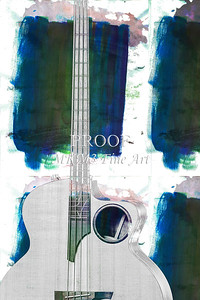 315.1835 Taylor AB1 Acoustic Electric Bass Watercolor