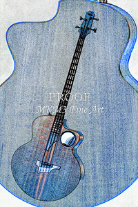 301.1835 Taylor AB1 Acoustic Electric Bass Watercolor