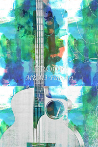 316.1835 Taylor AB1 Acoustic Electric Bass Watercolor
