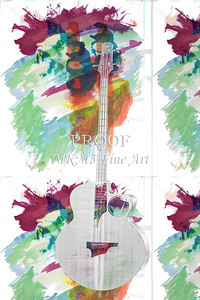 311.1835 Taylor AB1 Acoustic Electric Bass Watercolor