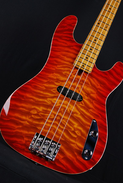 Bent Top Vintage T Bass, Vintage Cherry Burst