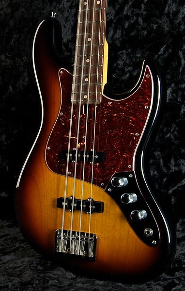 J4 Bass #3244, 59 Burst, Grosh JJ pickups, Hipshot Bridge, and keys.