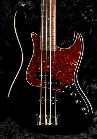 J4 Bass #3248 Black Finish, Grosh Vintage JJ Pickups, Hipshot Bridge and Keys.