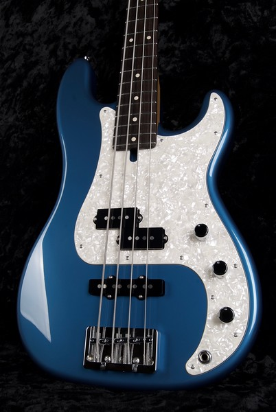 P4 Bass #3570, Lake Placid Blue, Grosh PJ pickups
