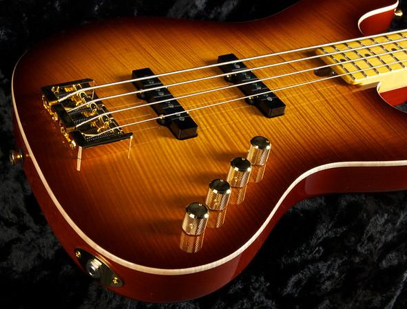 J4 Bent Top Bass, #3260 Tobacco Burst, Vintage Grosh J-Pickups, Hipshot Bridge and Keys.