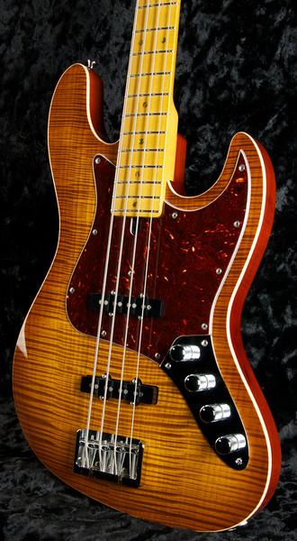J4 Bent Top Bass Vintage Maple Burst, Grosh Vintage J Pickups, Hipshot Bridge and Keys.