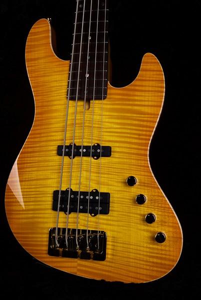 J5 Bass - Maple Top #3571, Lemon Burst, Grosh J5 pickups, Double J Bridge
