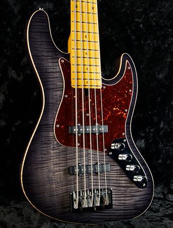 J5 Bent Top Bass #3254, Grosh Vintage J-Pickups, Hipshot Bridge and `keys.