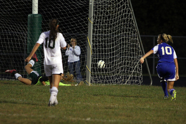 Girls varsity soccer vs Amelia   9/22/11