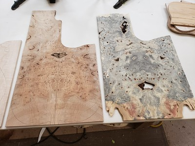 maple burl and buckeye burl