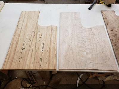 spalted maple and quilted maple