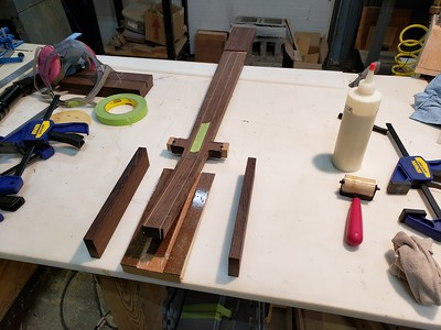 glue-up for headstock ears
