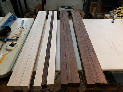 maple and wenge stock for necks