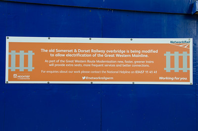 Another Network Rail notice in place by the bridge over the GWR main line