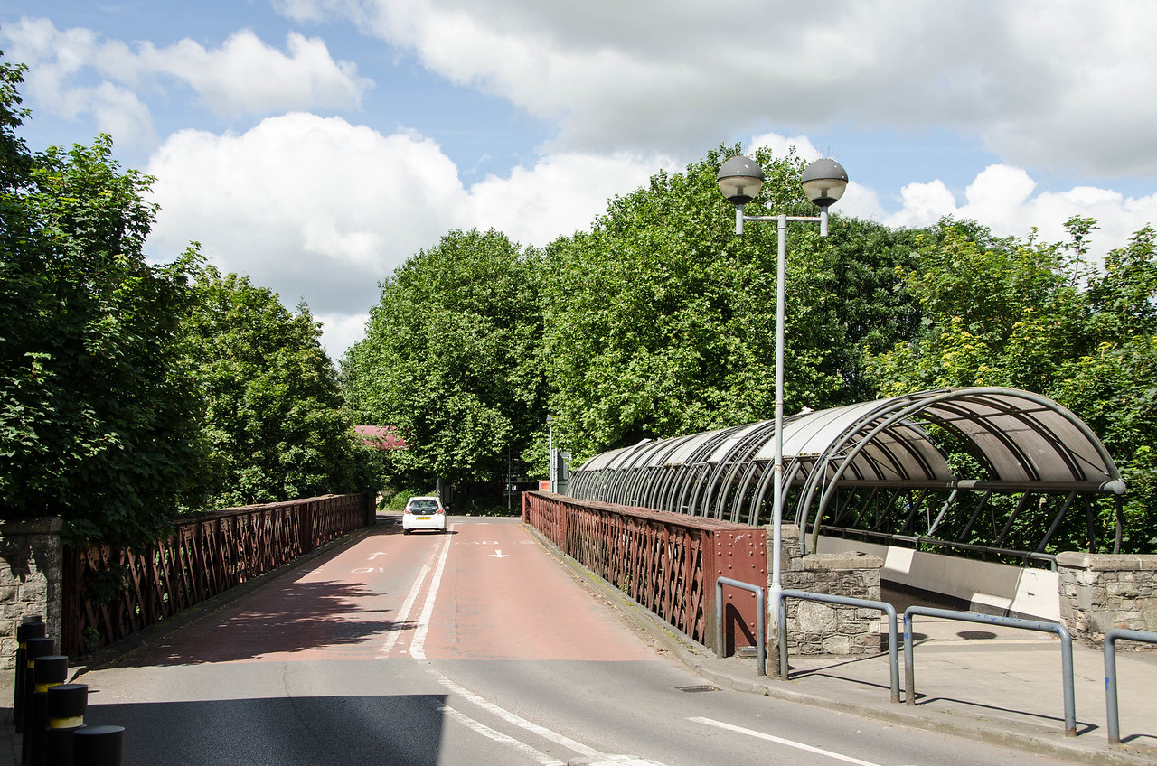 The surviving bridge over the River Avon outside the station