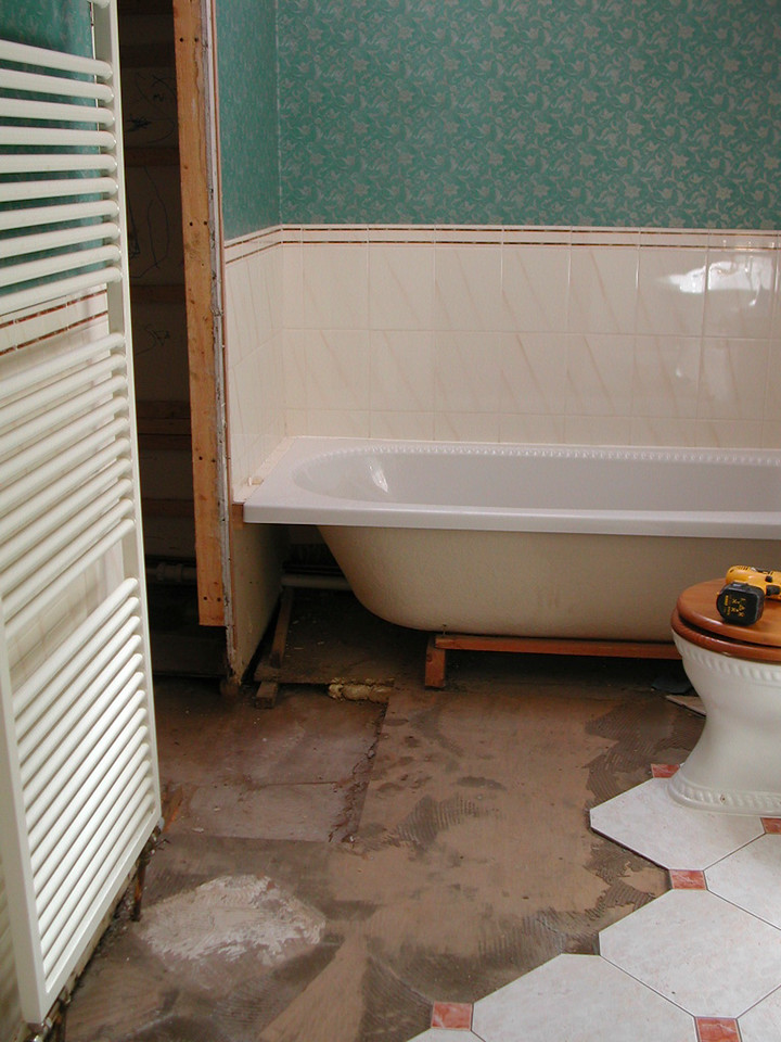 Refurbishment of existing shower area after water danmage.