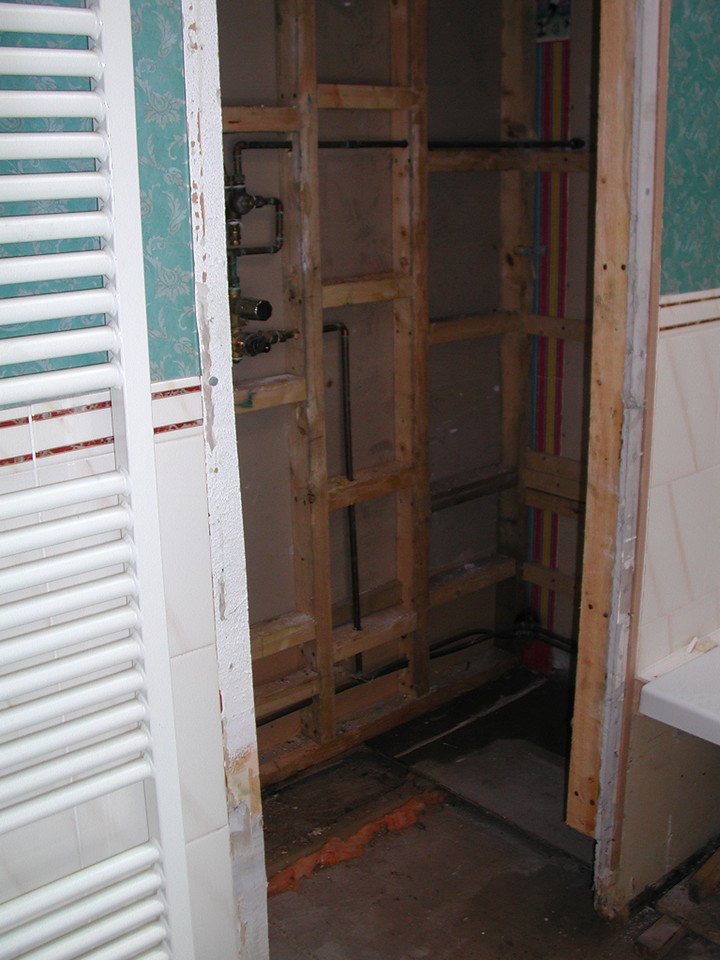 Remove water damage framing and replace where required.