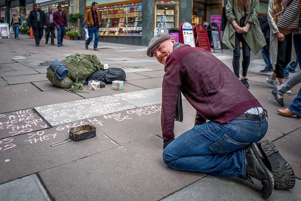 Danny Lake, street poet
