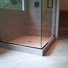 "Frameless shower enclosure   3/8"" glass"
