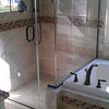 AFTER PIC<br /> <br /> What a difference it makes lowering the pony wall.  We pushed the glass towards the tub providing a foot step.  The front of the shower has been brought out about 6 inches...so it feels much bigger inside the shower area now.  Little changes can make a big difference.