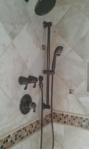 Upgraded Moen shower fixture