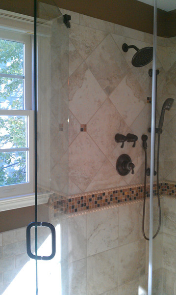 "3/8"" frame-less shower encloses are really nice."