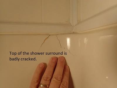 Top of Shower Surround Damage