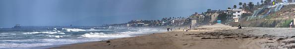 From North Carlsbad Beach looking toward the Oceanside Pier