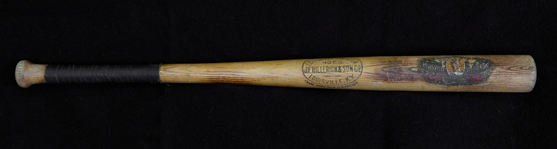 """Eddie Collins is considered one of the best pure second baseman in baseball history. His lifetime BA of .333 rates 26th highest ever, with over 3,315 hits in 2,826 games.  Elected HOF in 1939.  This is a solid Louisville Slugger (33"""" and 37.5 oz) with evidence of game use across the barrel. Bat is unbroken with period tape still viable. Knob is fully intact as is barrel. Slight checking on back of barrel per photos. Decal is +90% intact. with clear, full signature. Flame tempering or tobacco stains on barrel."""