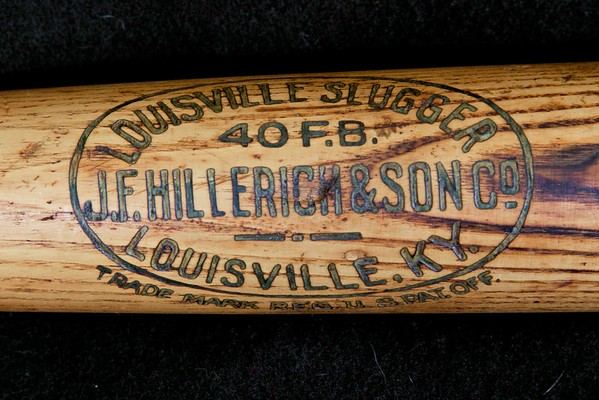Frank 'Home Run' Baker 1910/1915 Decal Bat; JF Hillerich & Son Co.; 40FB