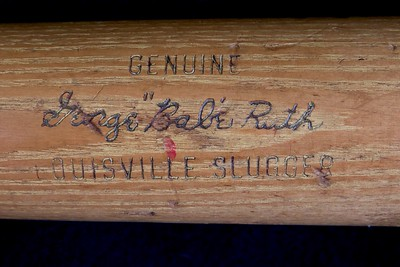 Babe Ruth (HOF '36) 1950/1955 Louisville Slugger; Pro Model R43 Bat