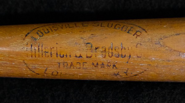 Near flawless decal bat, 22 inch salesman sample bat; Bat is not cracked or damaged in any way, center brand is clearly early era of H&B. Decal is 98% intact.