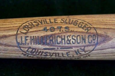 Tris Speaker 1912/1915 Decal Bat; JF Hillerich & Son Co