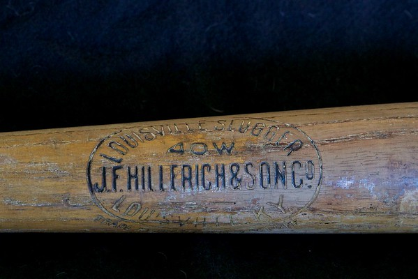 Honus Wagner 1911/1916 Side-Written Decal Bat; JF Hillerich & Son Co.; 40W