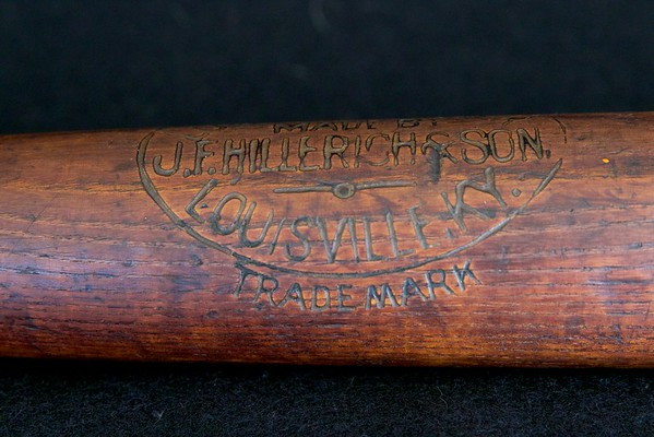 "JF Hillerich & Son Pro Model Bat; 1900/1905; 33"" and 45 oz"