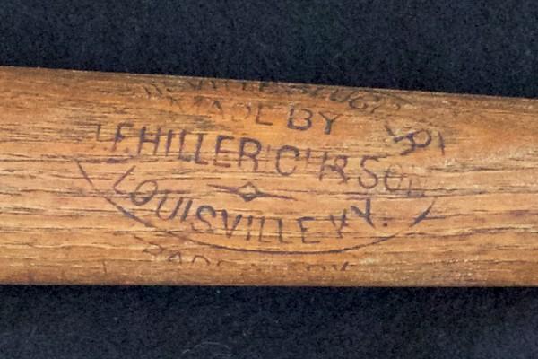 JF Hillerich & Son Bat; 1897/1900 Reverse Label