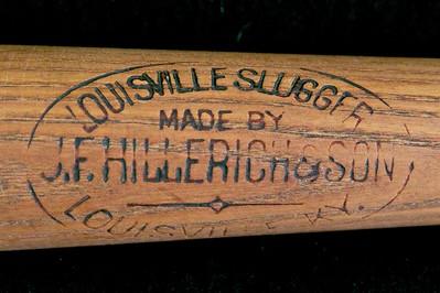 JF Hillerich & Son Bat 1897/1900 Reverse Label