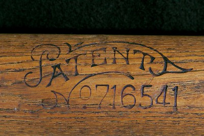 JF Hillerich & Son Bat; Reverse label; Patent 1902 - 1905