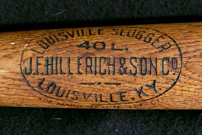 Nap Lajoie (HOF '37) 1910/1915 Decal Bat; JF Hillerich & Son Co. 40L.