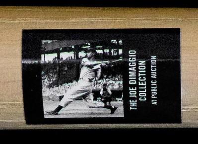 Joe DiMaggio Pro Model Bat; Personal Collection