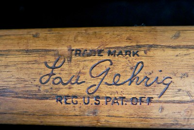 Lou Gehrig (HOF '39) 1933/1934 Hillerich & Bradsby Louisville Slugger