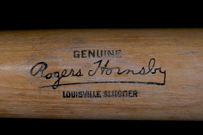 Rogers Hornsby (HOF '42) 1946/1948; Louisville Slugger